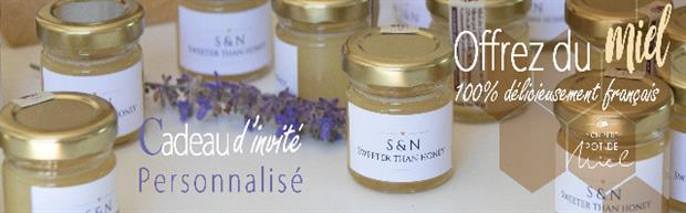 mon petit pot de miel créateur de cadeau invité personnalisé