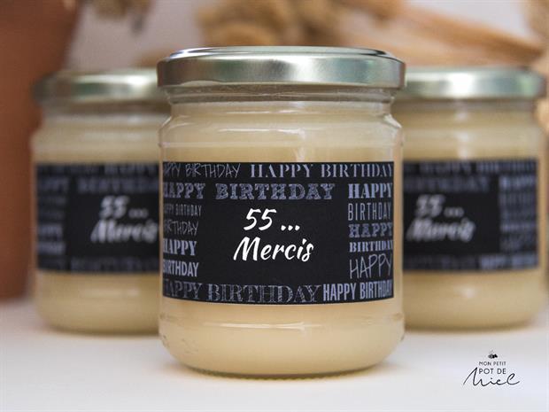 idée cadeau pour invités d'un anniversaire - des petits pots de miel