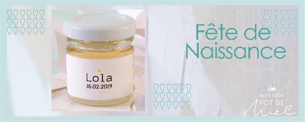 cadeau personnalisé pour une fete de naissance offrez du miel 100% français