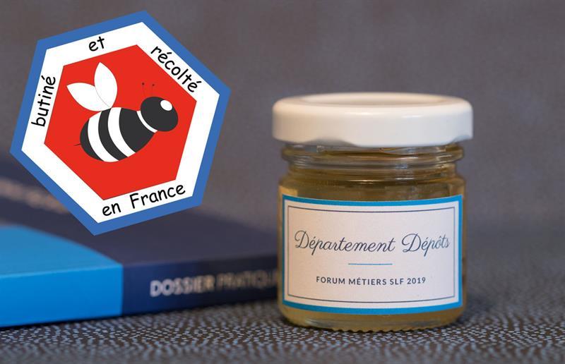 Idée de cadeau d'entreprise pour séminaire - offrez des petits pots de miel personnalisés