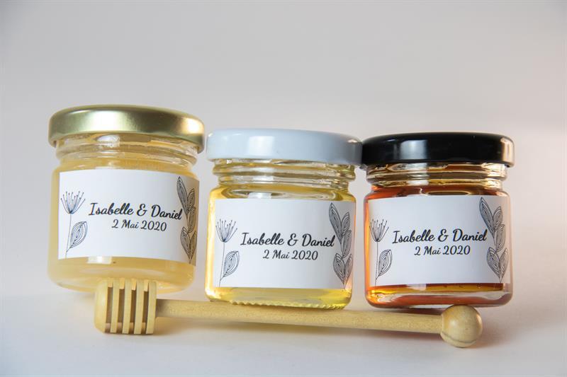 Offrez du miel comme Cadeau d'invite personnalisable