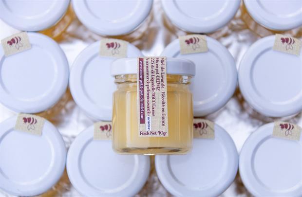 la contre étiquette des Petits Pots de Miel - Produit récolté en France