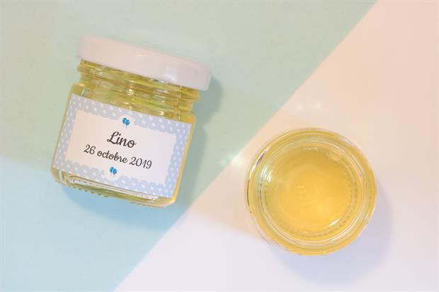 Cadeau d'invite personnalisable- des petits pots de miel