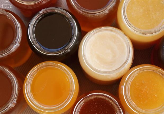 Différentes variétés de miel selon les nectars butinés par les abeilles