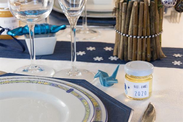 repas nouvel an decoration et cadeau invite