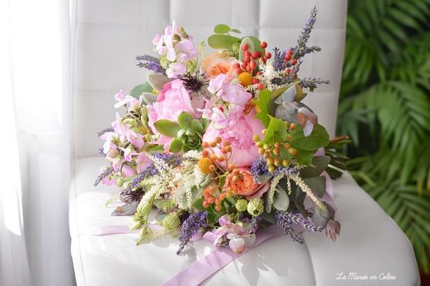 bouquet de la mariée romantique