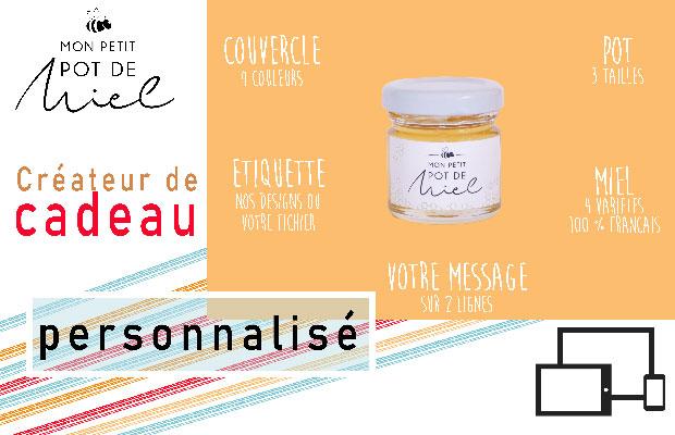un cadeau original et plein de saveur Mon Petit Pot de Miel créateur de cadeau personnalisé