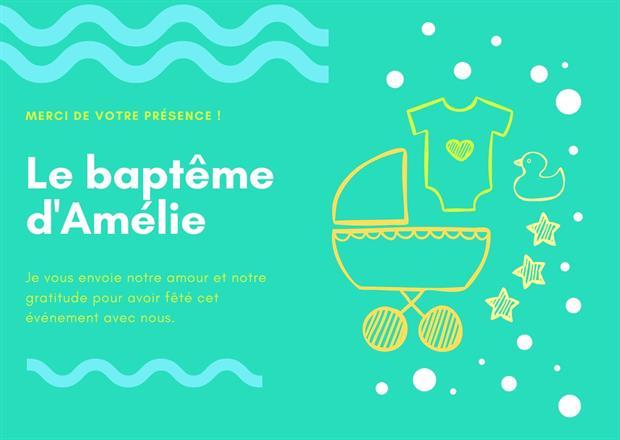 Organiser le baptême de votre enfant - invitation et cadeau d'invité