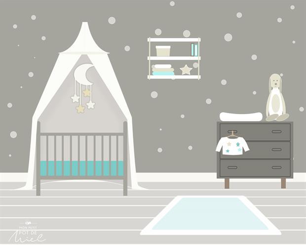 illustration chambre de bébé MPPM