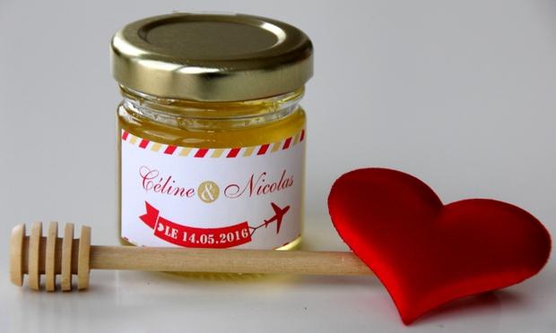 Le miel du paradis pour un superbe cadeau d'invité