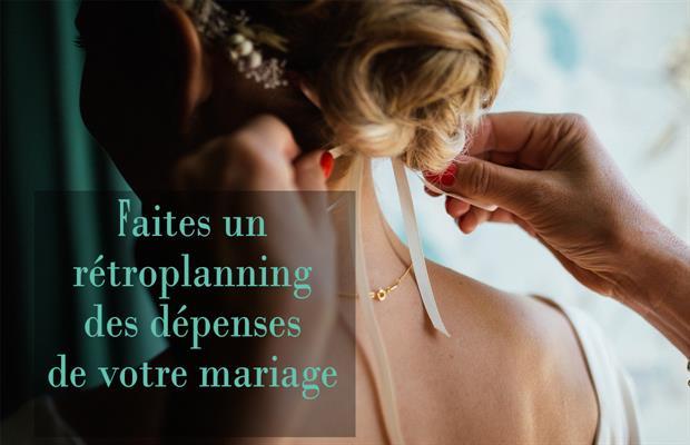 Faire un rétroplanning des dépenses de votre mariage
